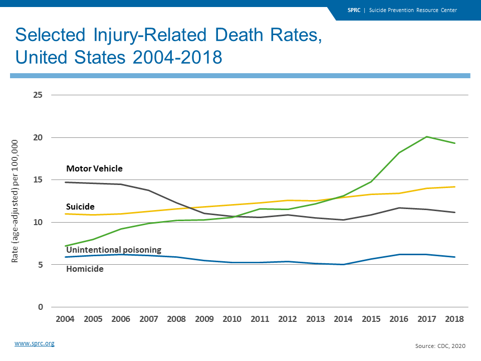 Selected Injury-Related Death Rates, United States 2004-2018