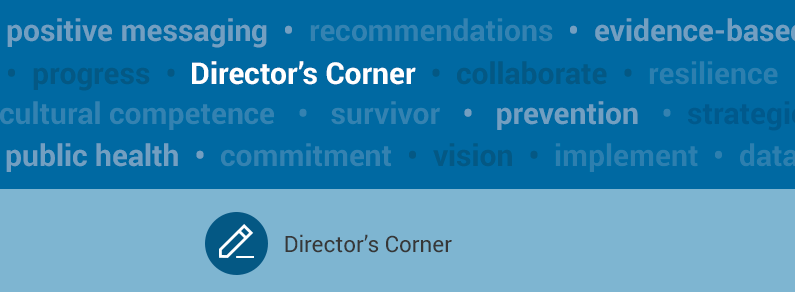 "Text that says ""Director's Corner"""